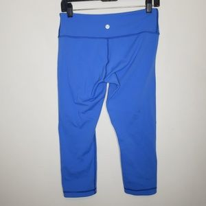 Lululemon Blue Cropped Leggings Size 8